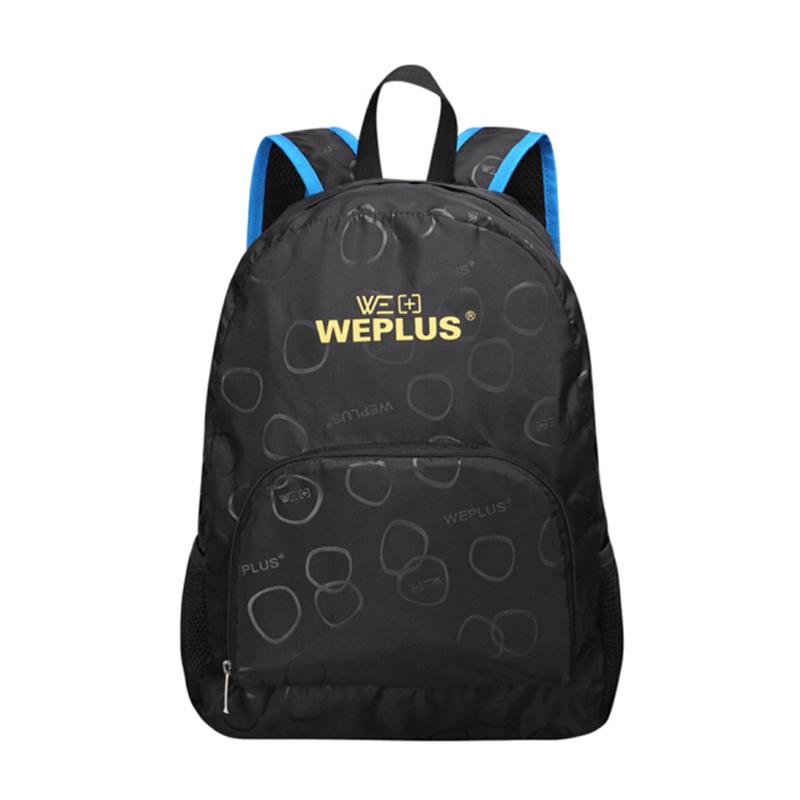 唯加(WEPLUS)旅行折疊背包皮膚包 輕盈戶外雙肩包男女情侶旅行包背包