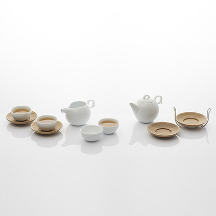 哲品家居 人月圆景德镇陶瓷功夫茶具套装瓷器过滤泡茶家用整套
