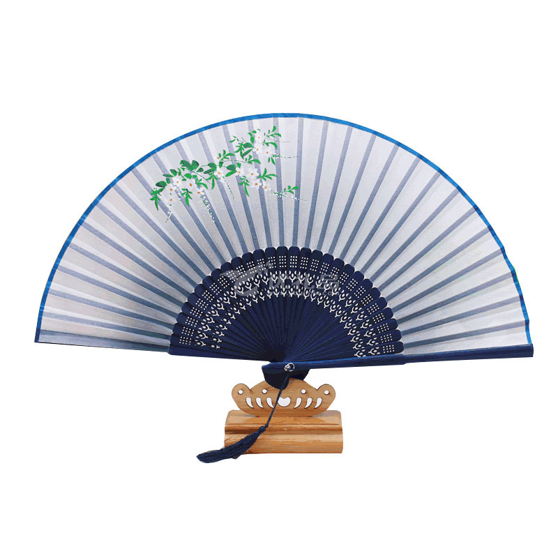 古風折扇中國風日式古典扇子絲綢絹扇禮品定制