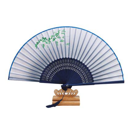 古风折扇中国风日式古典扇子丝绸绢扇礼品定制