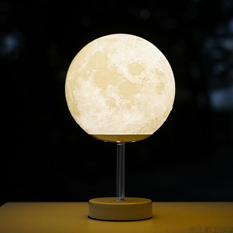 3D打印觸摸板創意個性定制月球燈15CM