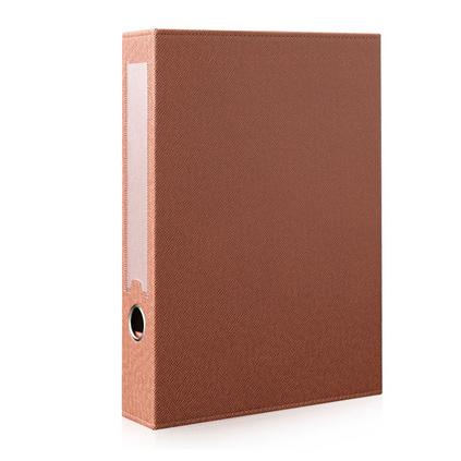A4皮革檔案盒資料盒文件盒 棕色大容量會計憑證盒無夾