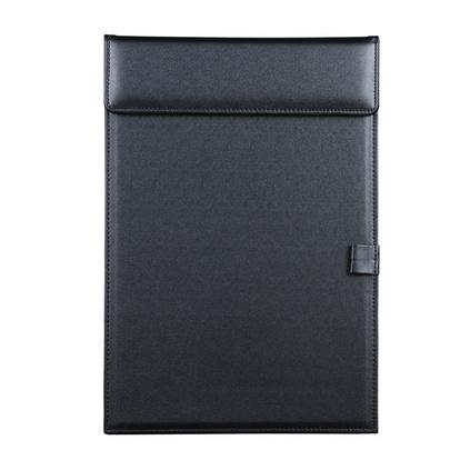 三孔杯托+A4會議墊板套裝 隔熱墊 辦公酒店用品黑色PU皮革會議夾