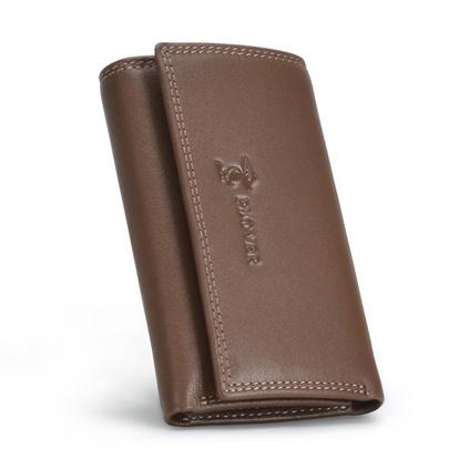 UCANO/啄木鳥新款年年有余真皮鑰匙包腰掛零錢包多功能卡包定制