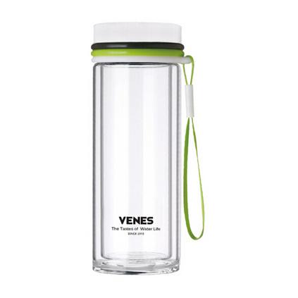 菲馳(VENES)創意情人節送老婆 男友創意禮物女生生日禮品 酷派時尚雙層高硼硅玻璃杯定制
