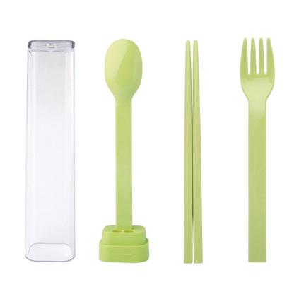 emoi基本生活 便攜式環保餐具套裝 叉勺子筷子三件套 旅行盒H0203 餐具三件套定制