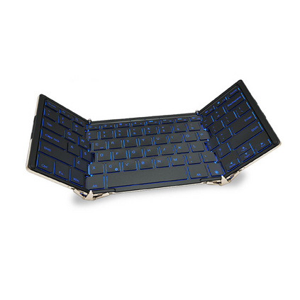 BOW航世HB099B 無線藍牙折疊鍵盤USB有線家用辦公背光游戲鍵盤定制