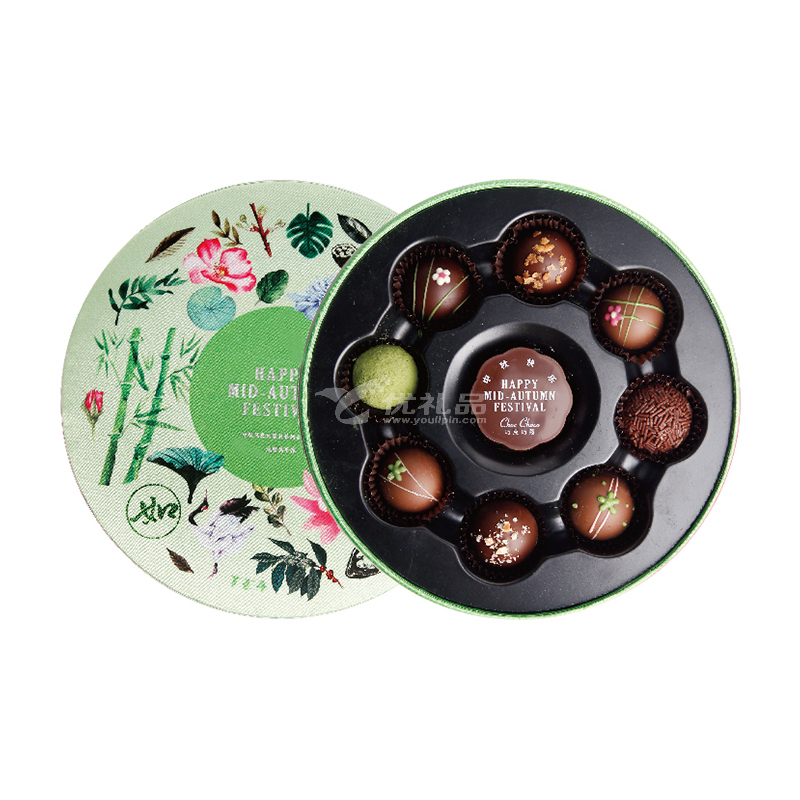 创意手工月亮饼特产夹心巧克力中秋节礼盒定制