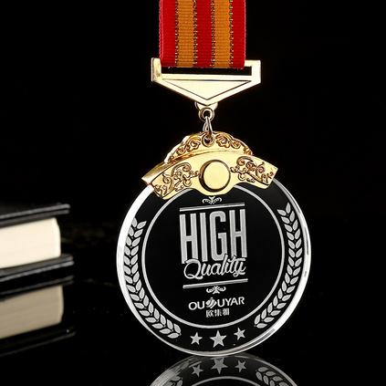 金属水晶挂牌奖牌奖章 马拉松跑步台球篮球足球自行车举重体育比赛挂牌奖品定制
