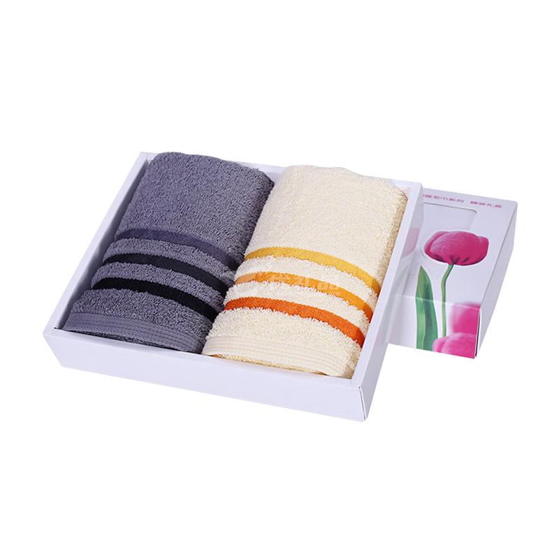 潔麗雅毛巾禮盒 純棉洗臉面巾節日慶典會議定制禮盒T167兩條裝定制