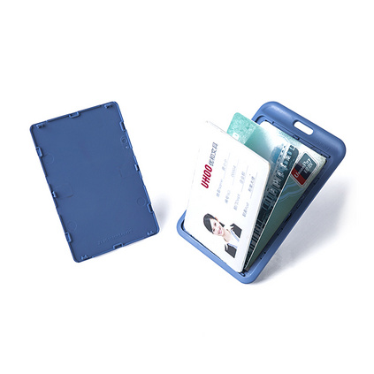 炫彩证件卡套装糖果色证件胸卡套工作证公交门禁卡套员工胸牌定制