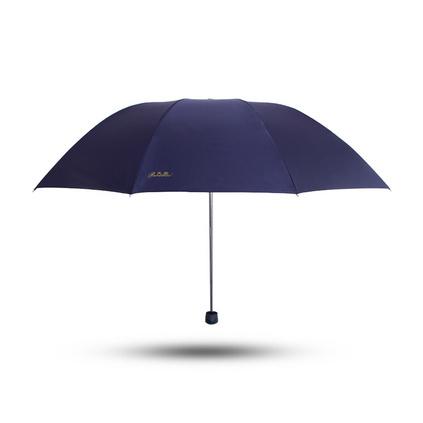 天堂傘 33188E 加大加固黑膠三折鋼桿鋼骨商務晴雨傘太陽傘定制