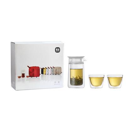 哲品月影隨身旅行功夫茶具一壺兩杯套裝紅茶泡茶器玻璃茶杯便攜包禮品定制