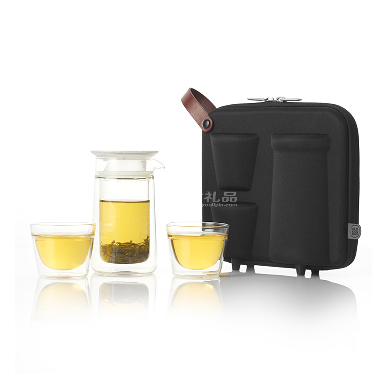 哲品月影随身旅行功夫茶具一壶两杯套装红茶泡茶器玻璃茶杯便携包澳门美高梅娱乐游戏