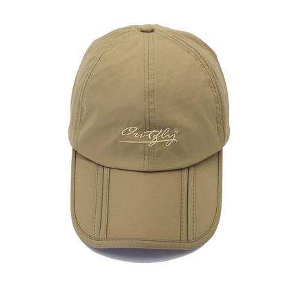 折叠太阳帽鸭舌帽户外可折叠速干防晒钓鱼帽防水男士运动帽鸭舌帽 定制