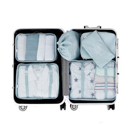 原创D-POCKET旅行收纳袋行李箱衣物整理袋衣服收纳包6件套 折叠收纳小巧 定制