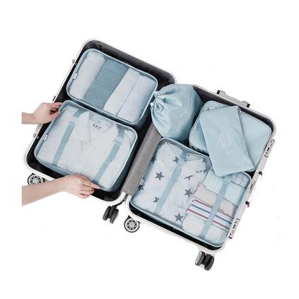 原創D-POCKET旅行收納袋行李箱衣物整理袋衣服收納包6件套 折疊收納小巧 定制
