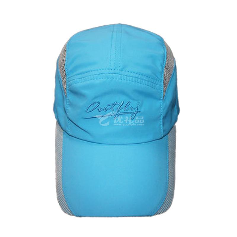 outfly夏季跑步帽戶外新款拼網帽檐出游登山棒球帽速干帽 旅行攜帶小巧定制