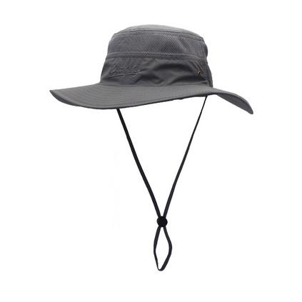滌綸防曬透氣漁夫帽盆帽 夏季男女大沿帽防紫外線遮陽帽定制