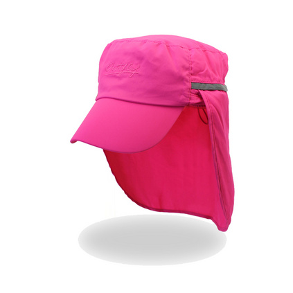 outfly可收納護脖披肩遮陽帽戶外防紫外線平頂鴨舌帽子定制