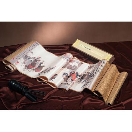 彩印版陸上絲綢之路一帶一路絲綢畫收藏禮品定制