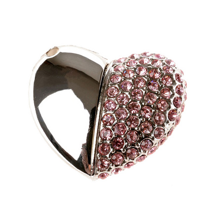 心形鉆石水晶U盤心形鉆石U盤 珠寶U盤8G定制