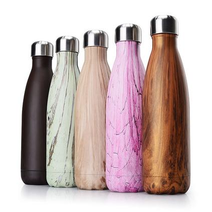 新款礼品创意不锈钢可乐瓶保温杯木纹礼品水杯亚博体育app下载地址