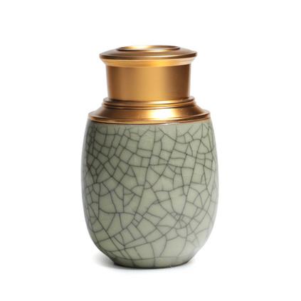 龍泉青瓷小號便攜旅行陶瓷密封茶葉罐定制