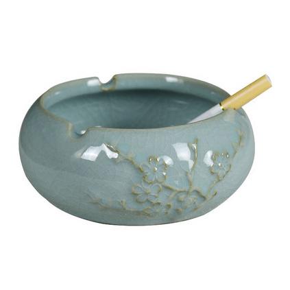 龍泉青瓷創意手工中式陶瓷煙缸禮品煙灰缸定制