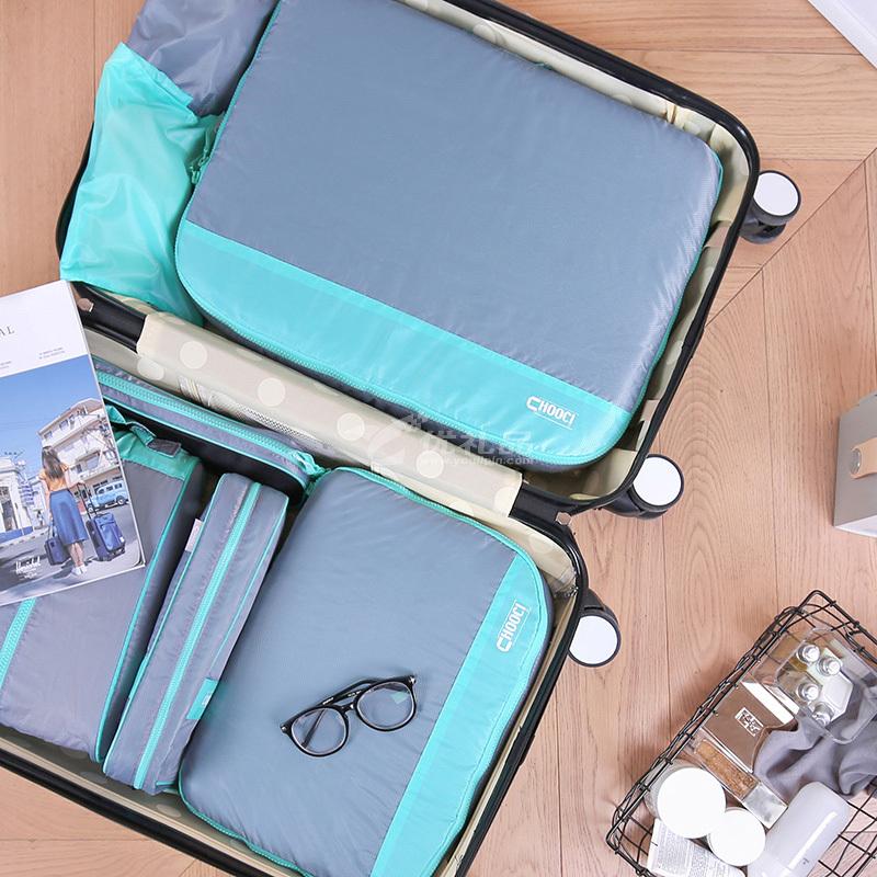 CHOOCI 輕薄旅行收納七件套定制 七件套防水旅游衣物袋洗漱包行李箱整理包袋CU0701