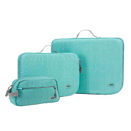 CHOOCI缤彩旅行收纳三件套 防水便携清新设计洗漱包衣物袋定制