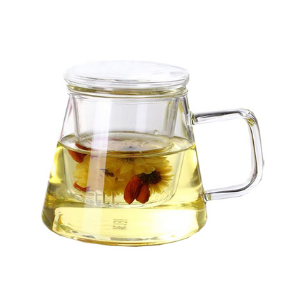 物生物三件杯幾何三件杯耐熱創意個性玻璃杯帶蓋水杯過濾花茶辦公茶杯定制