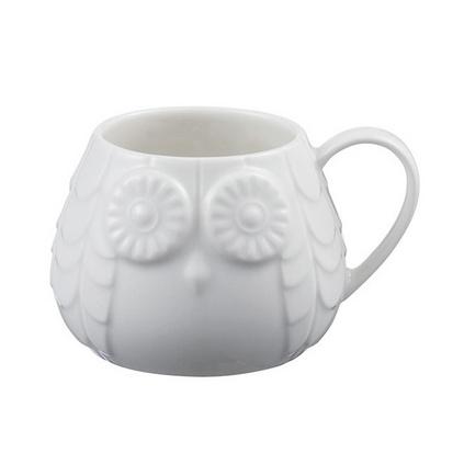 定制咖啡杯貓頭鷹杯子創意3D陶瓷杯可貼加LOGO