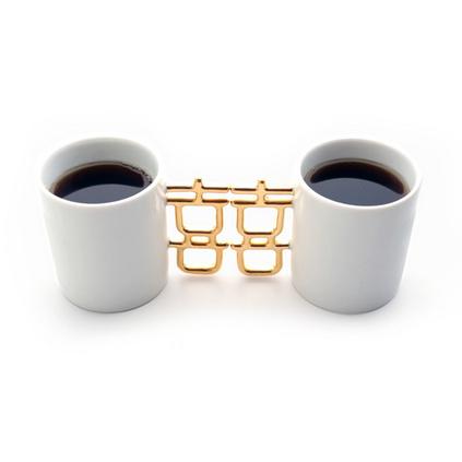 创意双喜杯金色喜字杯结婚礼品定制