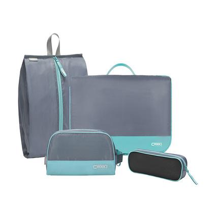 輕薄旅行收納洗漱包鞋袋衣物袋電源線袋四件套定制