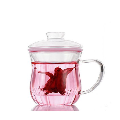 花茶杯耐熱玻璃杯創意檸檬花茶杯子定制