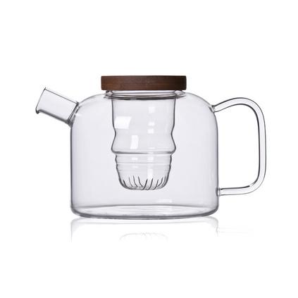 茶具玻璃套裝創意人形過濾花茶壺大耐熱玻璃泡茶壺水壺定制