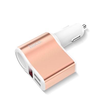 Z10数显点烟器车载充电器 双USB快速闪充手机充电器 定制