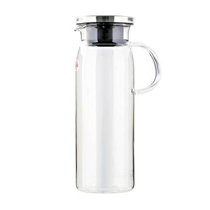 iwaki怡万家日本冷水壶 耐热玻璃不锈钢盖扎壶果汁壶大容量凉水杯定制