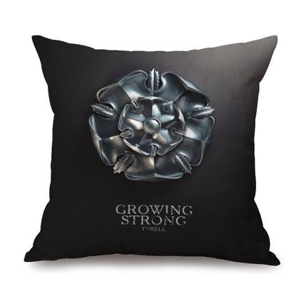 美剧权力的游戏冰与火徽标定制加厚棉麻抱枕创意印花靠垫