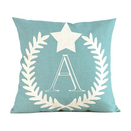 歐式26個英文字母棉麻印花抱枕套多色家居裝飾靠墊套禮品定制