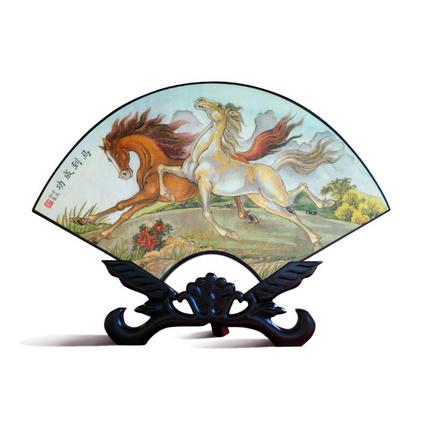 創意中國風禮品漆器臺屏辦公室擺件商務禮品定制
