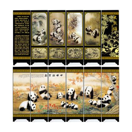 特色中國風漆器仿古小屏風禮品商務禮品定制
