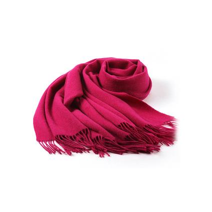 上海故事紅色圍巾女士秋冬季長款加厚純色韓版百搭羊毛圍巾大披肩禮品定做