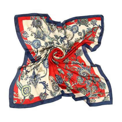 上海故事絲巾 時尚商務女士燙金大方巾 超大仿真絲絲巾 送禮佳品