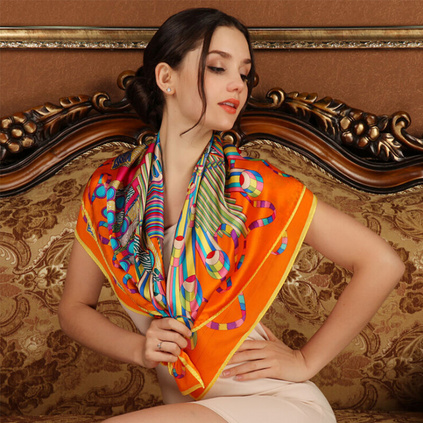 上海故事真絲大方巾韓國春秋冬季女桑蠶絲巾杭州絲綢圍巾披肩兩用女性禮品訂做