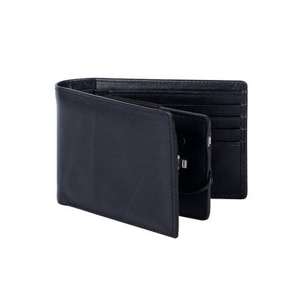 移动电源钱包定制 真皮短款钱包 可充电钱包便携