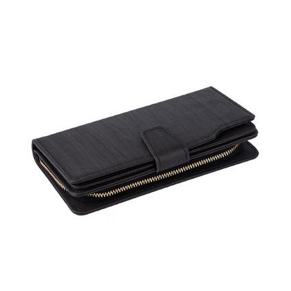 长款多功能电源钱包 大容量可充电钱包 pu钱包充电宝二合一皮夹定制