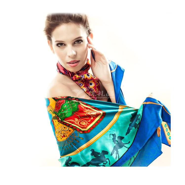 桑蠶絲圍巾絲巾 aurora正品定制