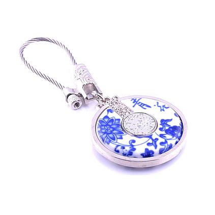 高檔禮品盒裝真青花瓷中國元素鑰匙扣鑰匙鏈掛件定制